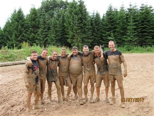 Mud Run team after